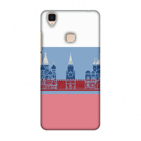 St.Petersburg - Russia Flag Slim Hard Shell Case For Vivo V3