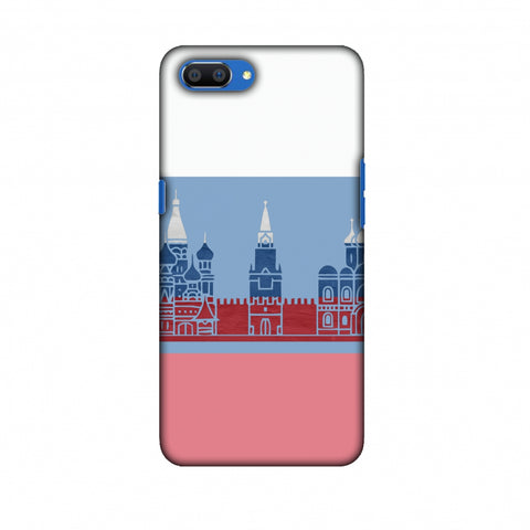 St.Petersburg - Russia Flag Slim Hard Shell Case For Oppo Realme C1