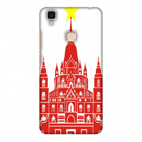 Tan Din Church - Vietnam Flag Slim Hard Shell Case For Vivo V3 Max