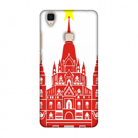 Tan Din Church - Vietnam Flag Slim Hard Shell Case For Vivo V3