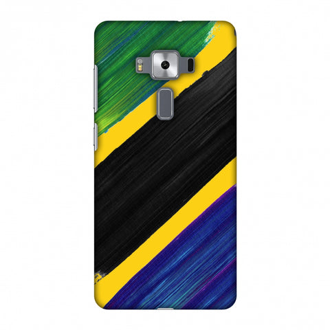 Tanzania Flag - Brush Strokes Slim Hard Shell Case For Asus Zenfone 3 Deluxe ZS570KL