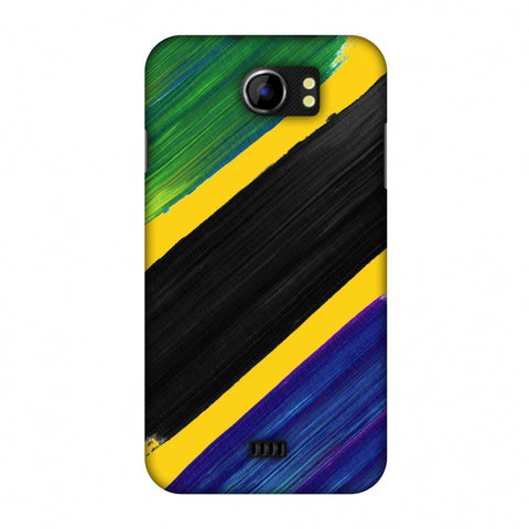 Tanzania Flag - Brush Strokes Slim Hard Shell Case For Micromax Canvas 2 A110