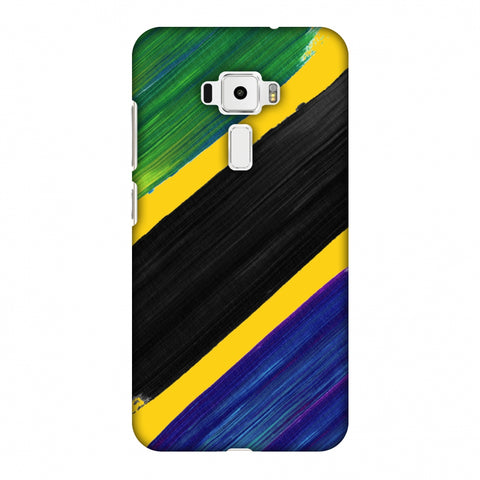 Tanzania Flag - Brush Strokes Slim Hard Shell Case For Asus Zenfone 3 ZE520KL