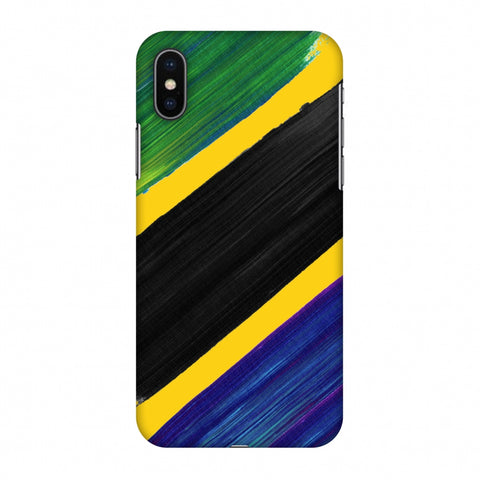 Tanzania Flag - Brush Strokes Slim Hard Shell Case For Apple iPhone X