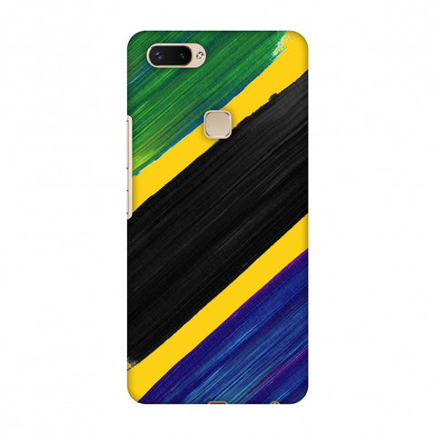 Tanzania Flag - Brush Strokes Slim Hard Shell Case For Vivo X20 Plus