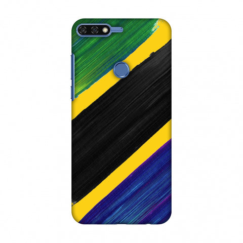 Tanzania Flag - Brush Strokes Slim Hard Shell Case For Huawei Honor 7C