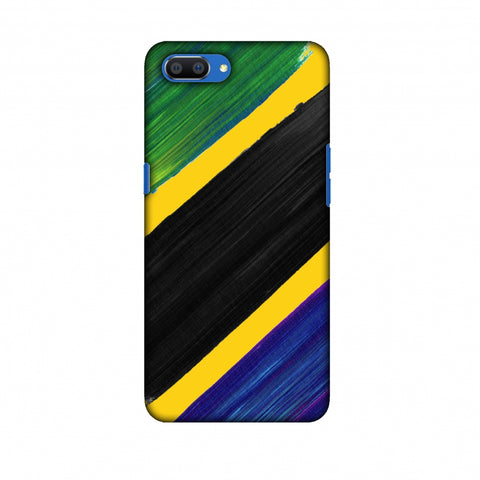 Tanzania Flag - Brush Strokes Slim Hard Shell Case For Oppo Realme C1