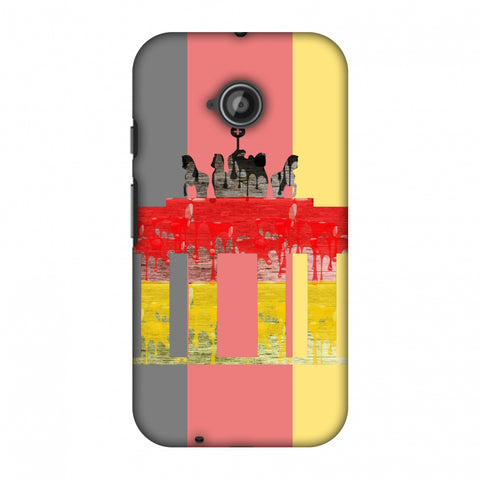 The BrAndenburg Gate - Germany Flag Slim Hard Shell Case For Motorola Moto E 2nd Gen
