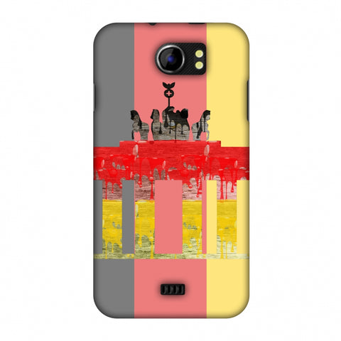 The BrAndenburg Gate - Germany Flag Slim Hard Shell Case For Micromax Canvas 2 A110