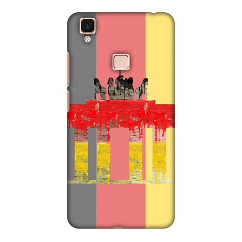 The BrAndenburg Gate - Germany Flag Slim Hard Shell Case For Vivo V3 Max