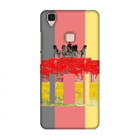 The BrAndenburg Gate - Germany Flag Slim Hard Shell Case For Vivo V3