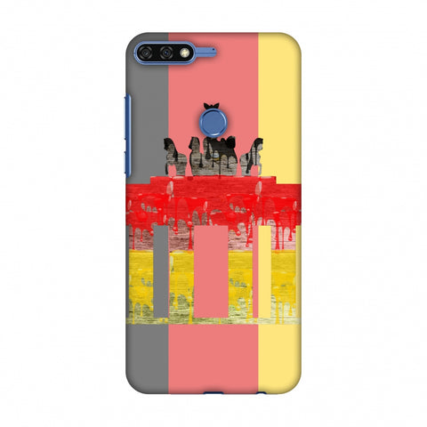 The BrAndenburg Gate - Germany Flag Slim Hard Shell Case For Huawei Honor 7C