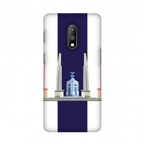 The Democracy Monument- Thailand flag Slim Hard Shell Case For OnePlus 7