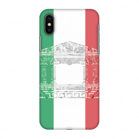 The Pantheon Of Rome - Italy Flag Slim Hard Shell Case For Apple iPhone X