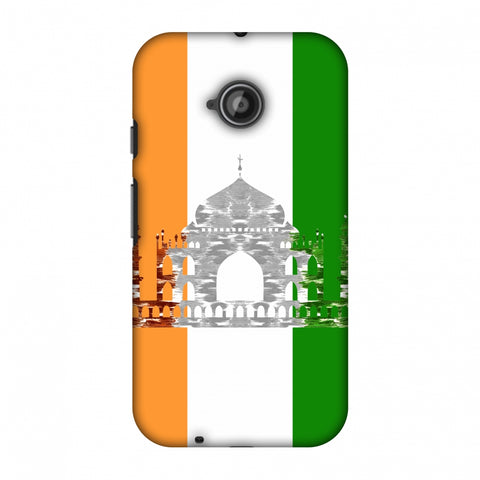 The Taj Mahal - India Flag Slim Hard Shell Case For Motorola Moto E 2nd Gen