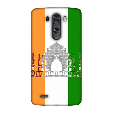 The Taj Mahal - India Flag Slim Hard Shell Case For LG G4