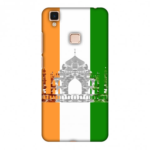 The Taj Mahal - India Flag Slim Hard Shell Case For Vivo V3 Max