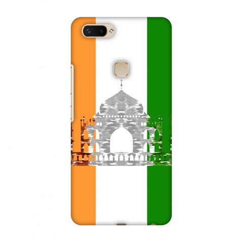 The Taj Mahal - India Flag Slim Hard Shell Case For Vivo X20 Plus
