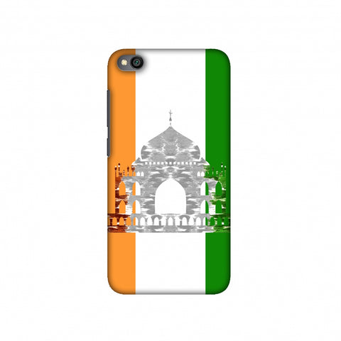 The Taj Mahal- India flag Slim Hard Shell Case For Redmi Go