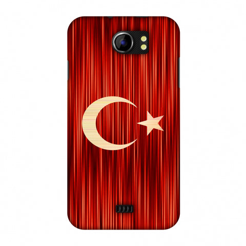 Turkey Flag - Strokes Slim Hard Shell Case For Micromax Canvas 2 A110