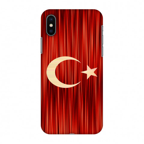 Turkey Flag - Strokes Slim Hard Shell Case For Apple iPhone X