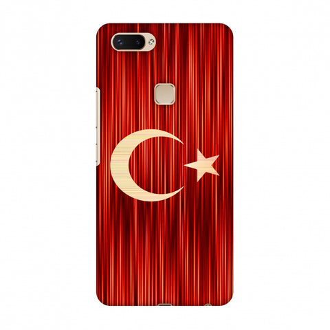 Turkey Flag - Strokes Slim Hard Shell Case For Vivo X20 Plus