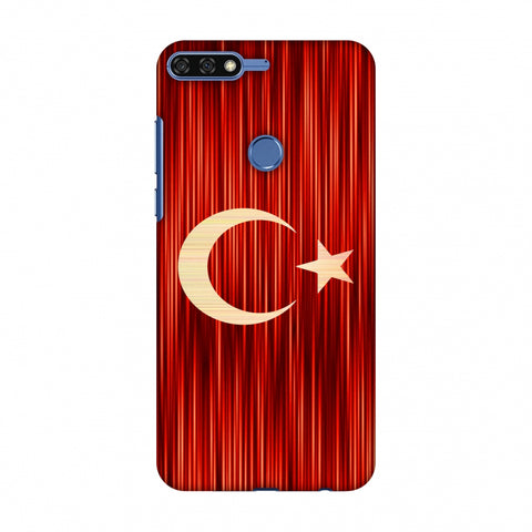 Turkey Flag - Strokes Slim Hard Shell Case For Huawei Honor 7C