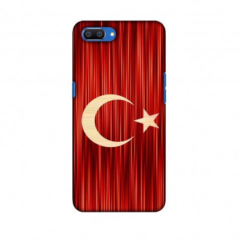 Turkey Flag - Strokes Slim Hard Shell Case For Oppo Realme C1