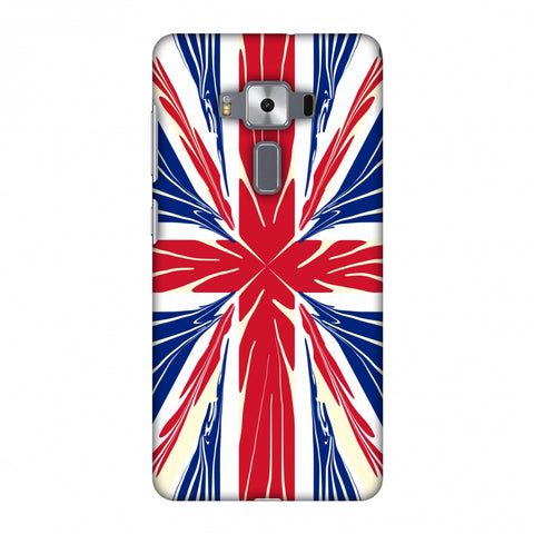 Uk Flag - Cutouts Slim Hard Shell Case For Asus Zenfone 3 Deluxe ZS570KL