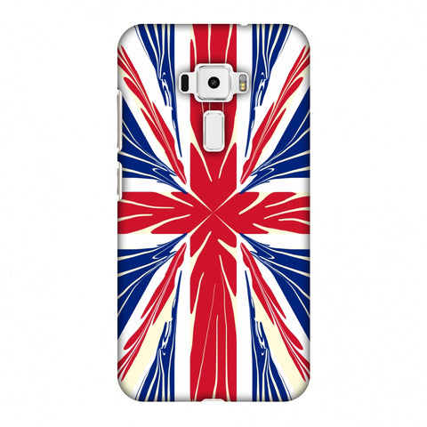 Uk Flag - Cutouts Slim Hard Shell Case For Asus Zenfone 3 ZE520KL