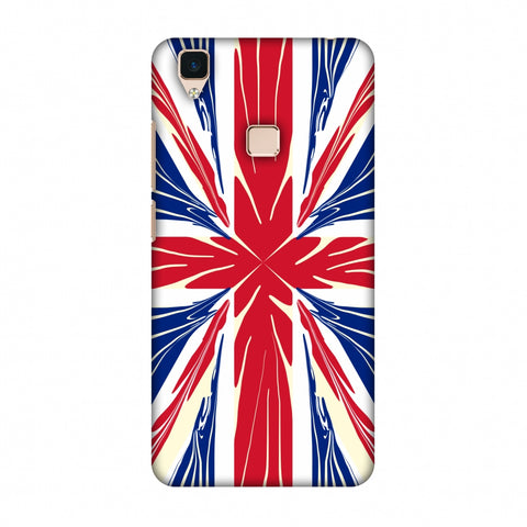 Uk Flag - Cutouts Slim Hard Shell Case For Vivo V3