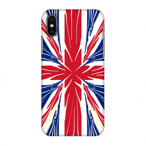 Uk Flag - Cutouts Slim Hard Shell Case For Apple iPhone X
