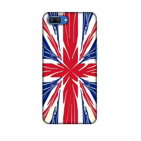 Uk Flag - Cutouts Slim Hard Shell Case For Oppo Realme C1