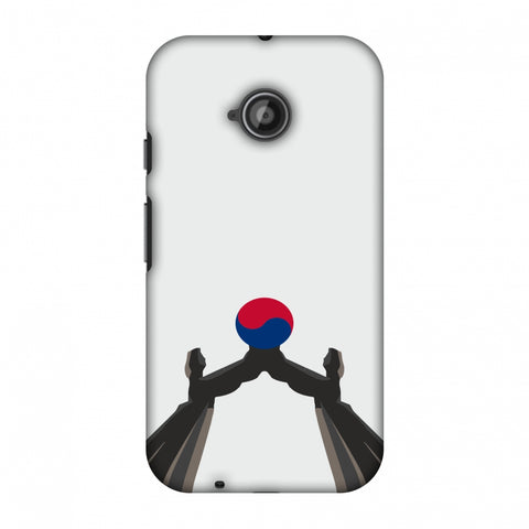 Unification Arch - South Korea Flag Slim Hard Shell Case For Motorola Moto E 2nd Gen