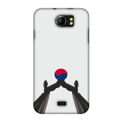 Unification Arch - South Korea Flag Slim Hard Shell Case For Micromax Canvas 2 A110