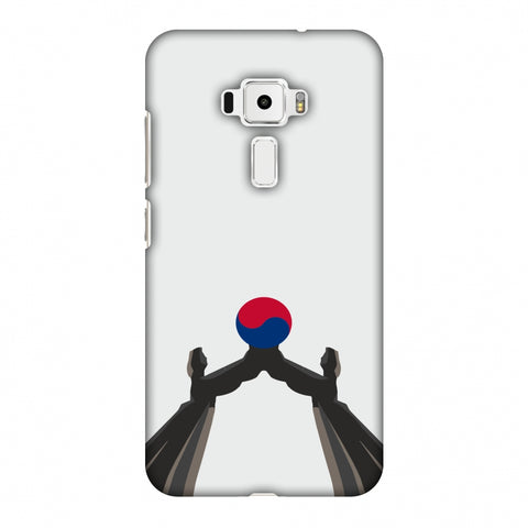 Unification Arch - South Korea Flag Slim Hard Shell Case For Asus Zenfone 3 ZE520KL