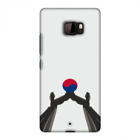 Unification Arch - South Korea Flag Slim Hard Shell Case For HTC U Ultra