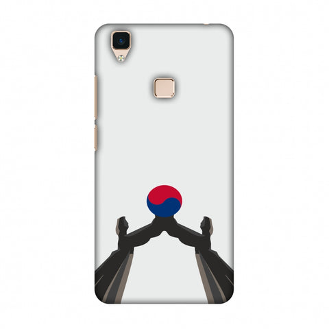 Unification Arch - South Korea Flag Slim Hard Shell Case For Vivo V3