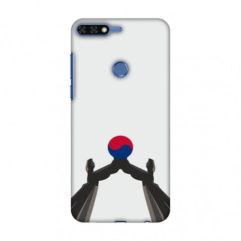 Unification Arch - South Korea Flag Slim Hard Shell Case For Huawei Honor 7C