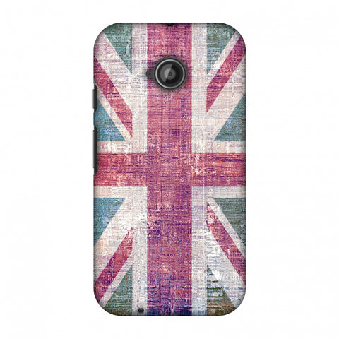 Uk Flag - Wood Texture Slim Hard Shell Case For Motorola Moto E 2nd Gen