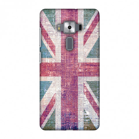 Uk Flag - Wood Texture Slim Hard Shell Case For Asus Zenfone 3 Deluxe ZS570KL