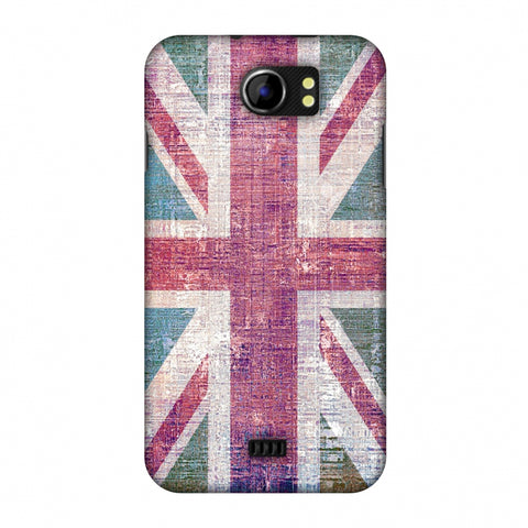 Uk Flag - Wood Texture Slim Hard Shell Case For Micromax Canvas 2 A110