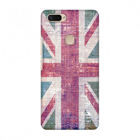 Uk Flag - Wood Texture Slim Hard Shell Case For Vivo X20 Plus