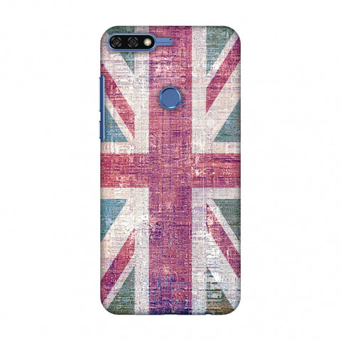 Uk Flag - Wood Texture Slim Hard Shell Case For Huawei Honor 7C
