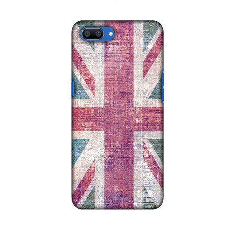 Uk Flag - Wood Texture Slim Hard Shell Case For Oppo Realme C1