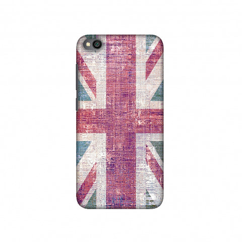 UK flag- Wood texture Slim Hard Shell Case For Redmi Go