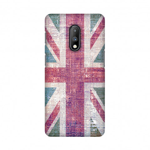 UK flag- Wood texture Slim Hard Shell Case For OnePlus 7