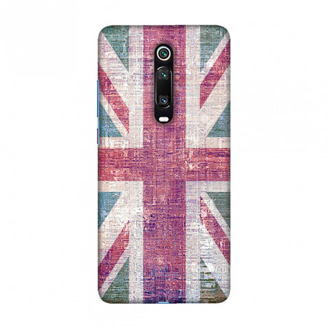 UK flag- Wood texture Slim Hard Shell Case For Redmi K20/K20 Pro