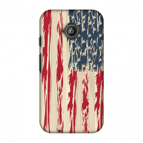 Usa Flag - Paint Splashes Slim Hard Shell Case For Motorola Moto E 2nd Gen