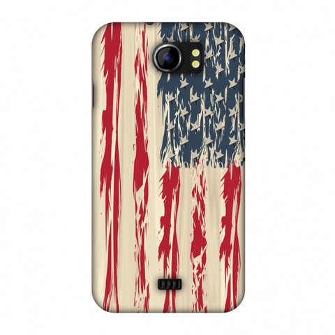 Usa Flag - Paint Splashes Slim Hard Shell Case For Micromax Canvas 2 A110
